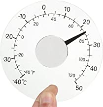 Erfula Termómetro Ventana Exterior Monitor Temperatura Autoadhesivo Impermeable Sin Batería para Ventanas Y Puertas Acrílico 32 mm Upgrade Premium