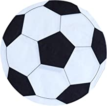 """Soccer Party Napkins - 50 Pack Disposable Soccer Shape Paper Napkins 6""""x6"""" Perfect for World Cup, Futbol, Sports Theme Birthday Party Tableware Decoration - Soccer Party Supplies"""