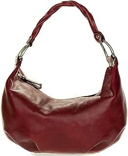 Robe di Firenze Italian Made Burgundy Red Organically Treated Leather Hobo Bag