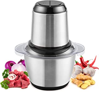 Food Chopper, Mini Food Processor Electric Meat Grinder for Meat, Vegetables, Fruits with 1.2L...