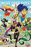 dc comics PP34002 DC Super Hero Girls (Move Over Boys) Maxi Poster, Bois Dense, Multicolore, 61 x 91,5 cm