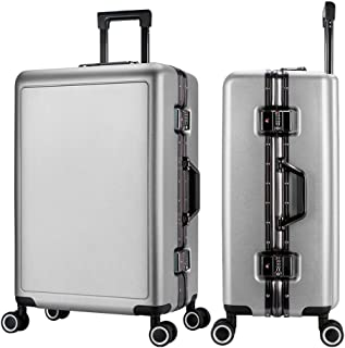 SMLCTY Lightweight Suitcases,hand Luggage Suitcases, Aluminum Frame PC Waterproof and Breathable 4 Round Mute Caster Large Capacity Password Lock Travel Trolley Case