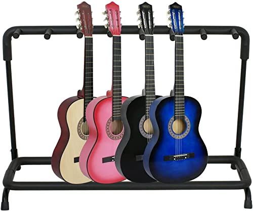 wholesale SHZOND Guitar Stand 7 lowest Holder Guitar Folding Stand Rack Band Stage Bass Acoustic sale Guitar outlet sale
