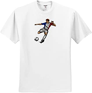 Patriotic Lacrosse Stick with US Flag T-Shirts 3dRose Carsten Reisinger Illustrations