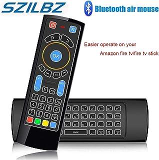 Calvas SZILBZ Bluetooth Mini Wireless keyboard Remote Control IR Air Mouse for Amazon Fire TV/Fire Stick/Android TV/mi box...