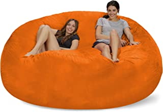 Chill Sack Bean Bag, Microsuede - Tangerine