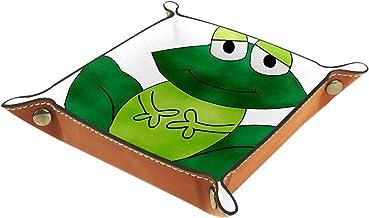 HOHOHAHA Składana taca do toczenia kości ze skóry PU do zegarka biżuteria pudełko do przechowywania etui uchwyt żaba 16 x ...