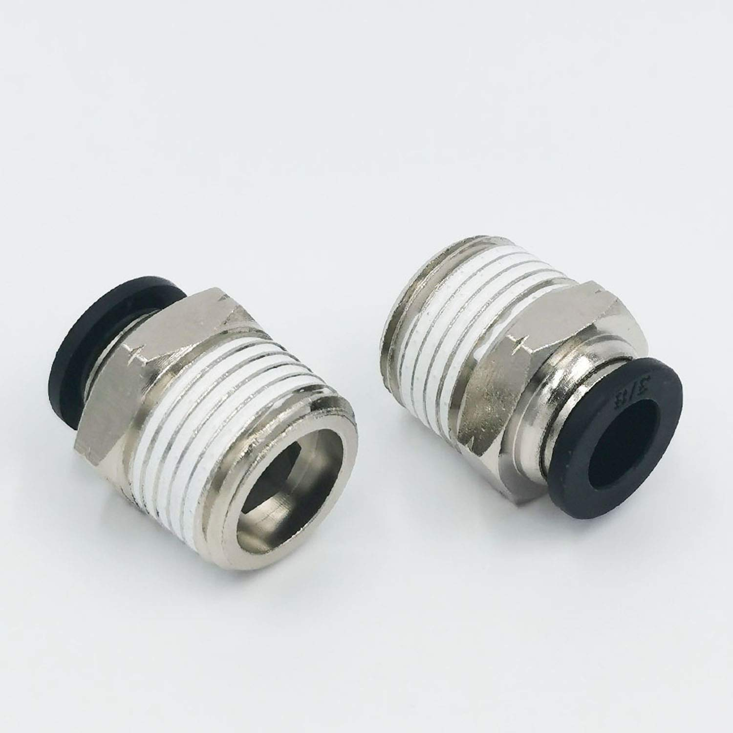 """2Pcs 1//4/"""" Tube OD Pneumatic Brass Push to Connect Fitting Tube Elbow Connector"""