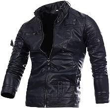 Preferential New Zlolia Men Leather Retro Jacket Autumn&Winter Biker Motorcycle Zipper Outwear Warm Coat