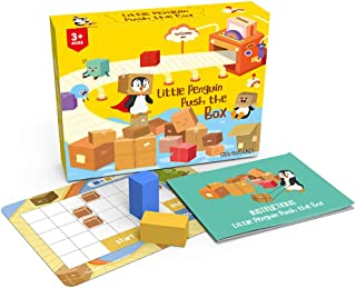 Kids Board Games, Logic Training Brain Teaser Sokoban Spatial Thinking Travel Games for Kids Ages 4-8, Spatial Reasoning P...