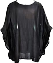 Amazing Grace Elephant Co. Thai Silk Women's Ethnic Batwing Sleeves Blouse Butterfly Kimono Tunic/Mumu Top