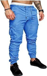 LAANCOO Pantaloni Coulisse per Men Casual Sport Pantaloni Cargo Pants Streetwear Multi-Tasca dei Pantaloni Pantaloni Panta...