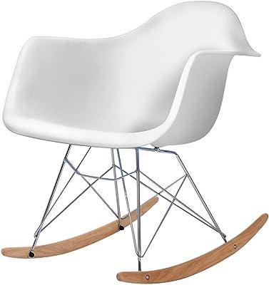 Admirable Amazon Com Modway Rocker Mid Century Modern Molded Plastic Forskolin Free Trial Chair Design Images Forskolin Free Trialorg