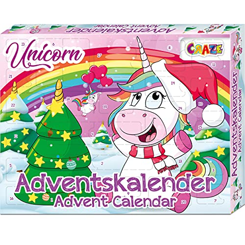 CRAZE Premium Advent Calendar 24706 adviento Navidad 2020 Unicorn Calendario de...