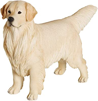 Petorama 100% Handmade Hand Painted Collectible Premium Cute Unique Gift Realistic Figurine Golden Retriever Statue 1:6 (1)