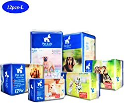 YINGYAO Pet Soft Disposable Wraps Female Dog Diapers,12piece
