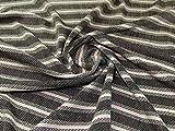 Gewebter Tweed-Beschichtungsstoff, schwarz, cremefarben,