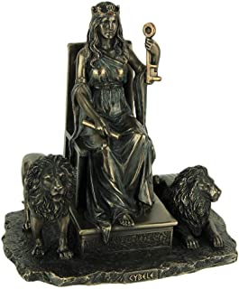 Veronese Design Resin Statues Cybele Ancient Greek Mother Goddess Bronze Finished Statue 7 X 7.5 X 5.25 Inches Bronze