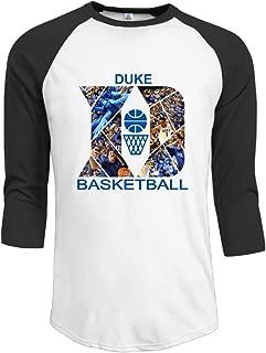 NINJOE Men's Cool 3/4 Raglan Duke Blue National Basketball Tshirts Black
