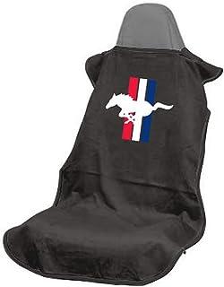 Seat Armour SA100PONB Black 'Ford Mustang Pony' Seat Protector Towel