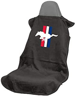 Seat Armour SA100PONB Black 'Ford Mustang Pony' Seat Protector Towel