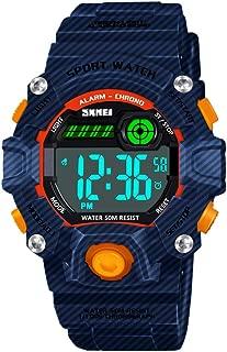 HODO Kids 50M Waterproof LED Sports Digital Watch with Alarm for Boys Girls
