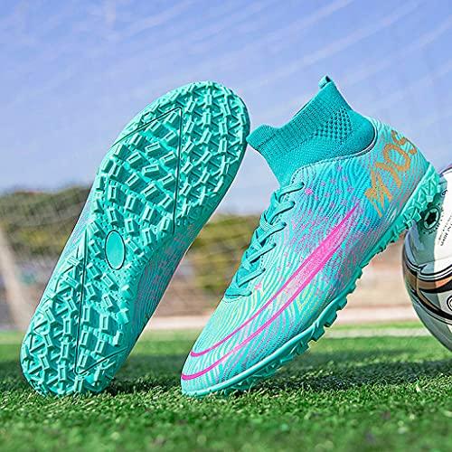 YUHAI Botas de fútbol para Hombres Mujeres con Cordones de lacios para jóvenes Zapatos de fútbol Profesional Zapatos,Broken Nails G-37