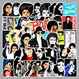 YCYY 51 Photos of Superstar Michael Jackson Laptop Tablet Suitcase Tide Brand Waterproof Hand Account Sticker