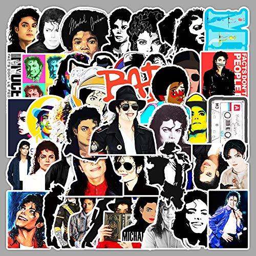 ZNMSB 51 Superstar Michael Jackson Laptop Teléfono móvil Skateboard Equipaje Tide Marca Pegatinas de Cuenta de Mano a Prueba de Agua