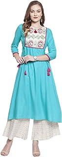 Kurti Set per donna indiano designer dritto A-Line Anarkali Kurta Set tunica abbigliamento partito