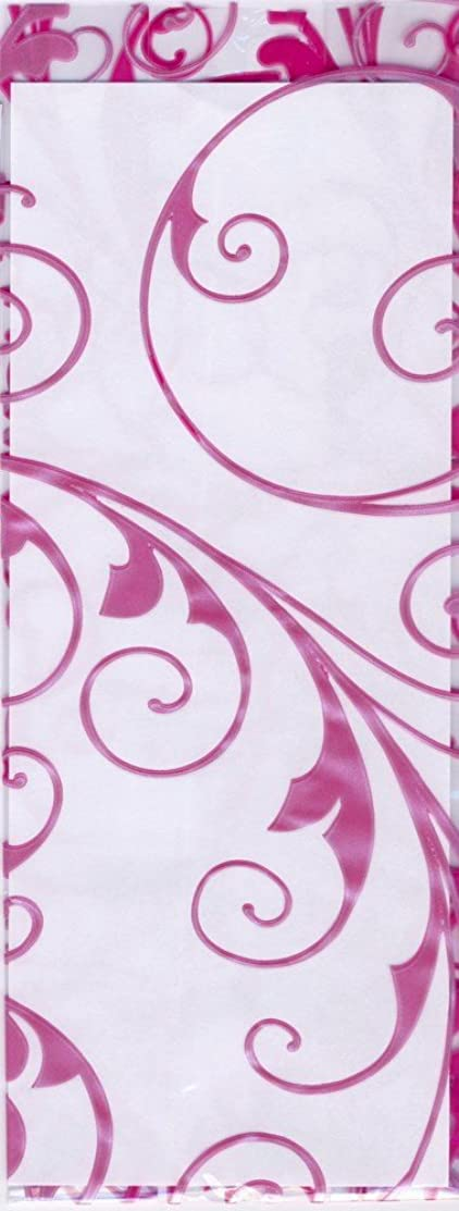 Hot Pink Jewel Swirls Cello Party Favor Treat Bags 5