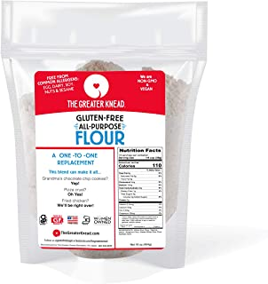 Greater Knead Gluten Free All Purpose Flour - Vegan, non-GMO, Free of Wheat, Nuts, Soy, Peanuts, Tree Nuts, A One to One R...