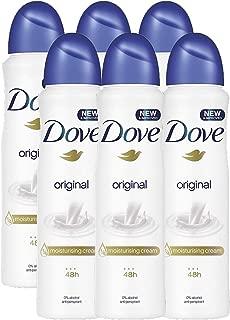 Dove  Original Aerosol Spray Deodorant & Anti-Perspirant 150ML / 5.07 Oz,(6 Pack)
