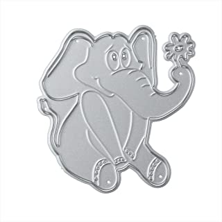 Cutting Dies,Hstore Elephant Paper Card Making Metal Die Cut Stencil Template for DIY Scrapbook Photo Album Embossing Craft Decoration (E)