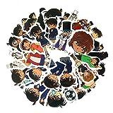 FENGLING Pegatinas de álbum de Recortes de animación de Detective para niños, calcomanía para Guitarra, portátil, Equipaje, Nevera, Coche, Pegatina de Graffiti, 35 unids/Set