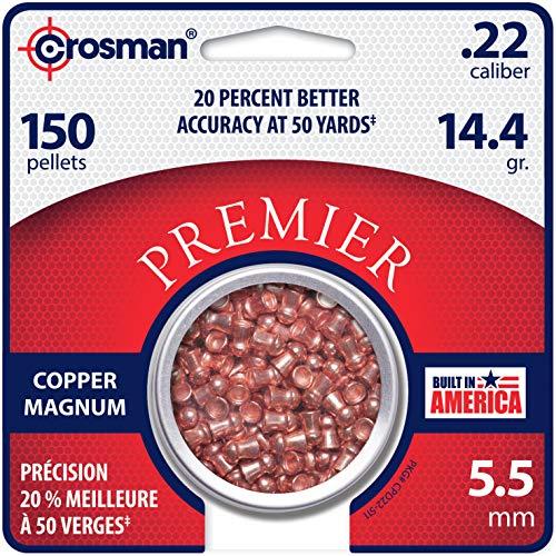 Crosman CPD22 .22-Caliber 5.5 mm Copper Magnum Domed Pellets...
