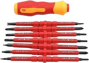 Rojo TOOGOO 2pzs Destornillador Phillips Plano Mini Destornillador Kit De Herramientas De Reparaci/óN Dividida Peque?a Corta Verde