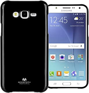 Goospery Pearl Jelly for Samsung Galaxy J7 Case with Screen Protector Slim Thin Rubber Case (Black) J7-JEL/SP-BLK