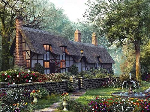 Diamond Painting House Cross Stitch Diamond Embroidery Landscape Bead Picture Kits Wall Decor Handmade Hobby Gift A5 50x70cm
