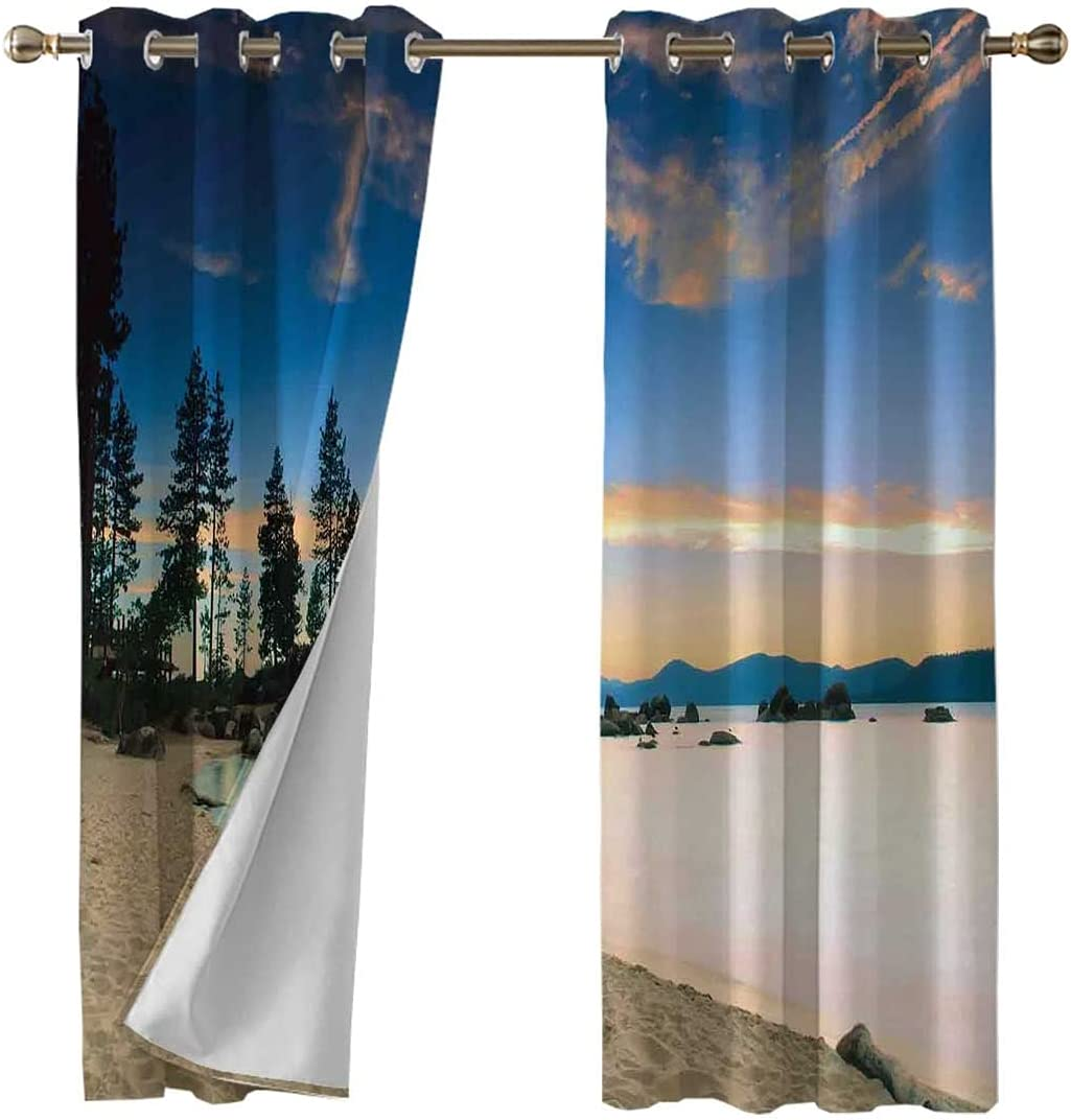 Oakland Mall Thermal Insulated Super beauty product restock quality top! Panels Grommet Peaceful Curtains Paradi Drapes
