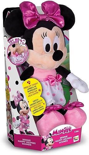 IMC Toys - Minnie Happy Helpers, peluche interactive sonore - 182431 - Disney
