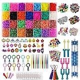 GIANOLUC 10833 Stück Loom Bänder Set, Loom Bands, Loom Gummis Gummibänder Kinder, DIY...