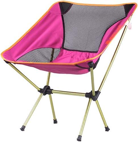 Chaise De Camping Pliable Chaise Pliante D'extérieur Chaise De Pêche Ultra Légère Escamotable portable Avec Chaise (Couleur   violet)