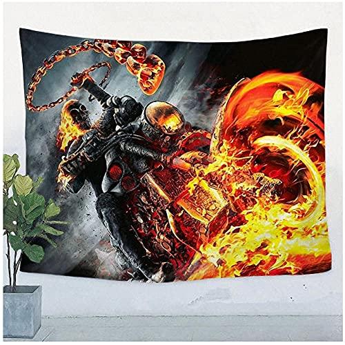 QJIAHQ Cartel de música de Heavy Metal Retro Bandera Bandera Tapiz Tela Arte Etiqueta de la Pared Bar Dormitorio Decoración para el hogar-150 * 130 cm