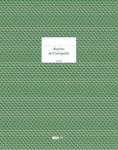 EDIPRO - E2103 - Registro IVA corrispettivi 15 pagine numerate f.to 31x24,5