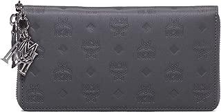 MCM Women's Klara Monogrammed Leather Charm Zipped Wallet Large