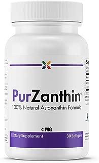 100% Natural Astaxanthin Formula - PurZanthin Natural Astaxanthin Formula 4 mg - Stop Aging Now - 30 Softgels