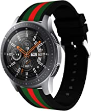 Sport Band Compatible with Gear S3 Frontier Classic Galaxy Watch 46mm Smart Watch, 22mm Soft Silicone Sports Replacement Strap Samsung Gear S3 Frontier (S3 Black/Green/Red)