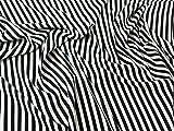 Spanisch gestreift Stretch Crepe Kleid Stoff schwarz und
