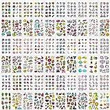 Qpout Tatuajes Temporales Para Niños Adultos Mujeres (60 Hojas) 800 Pcs Lindos Tatuajes Falsos Impermeables Pegatinas De Cara Arte Brazo Tatuajes De Manga Colorido Animal Fruta Vegetal